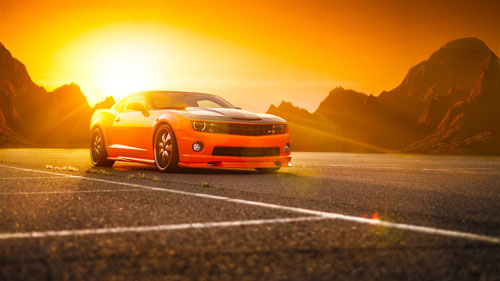 Chevrolet, Camaro, SS, Orange